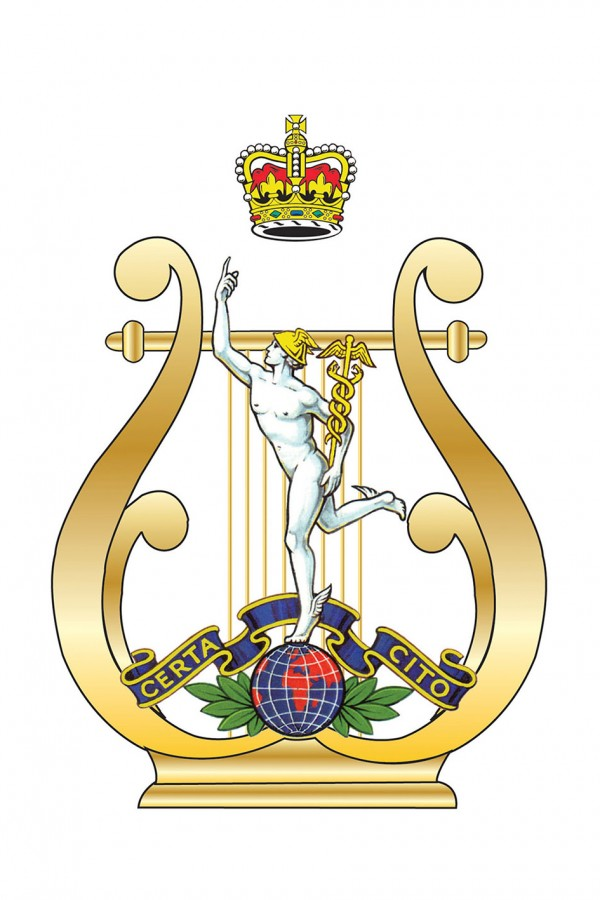 The Band of the Royal Corps of Signals cap badge