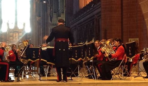 Royal Signals Corps band Liverpool Cathedral Project Noel 2015 Corps carol concert