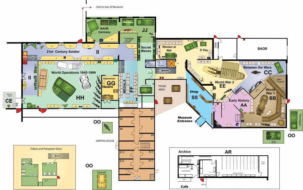 Blandford Homes Floor Plans: Royal Signals Museum