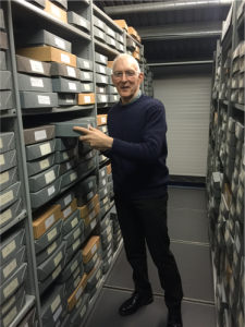 Head of Research and archive services Martin Skipworth in the Royal Signals Museum archive