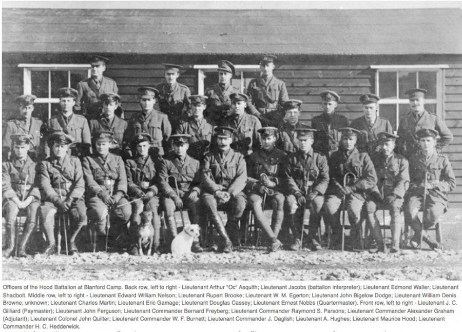 Officers of the Hood Battalion at Blandford Camp