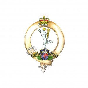 The Royal Signals Cap Badge of the Corps Pipes and drums