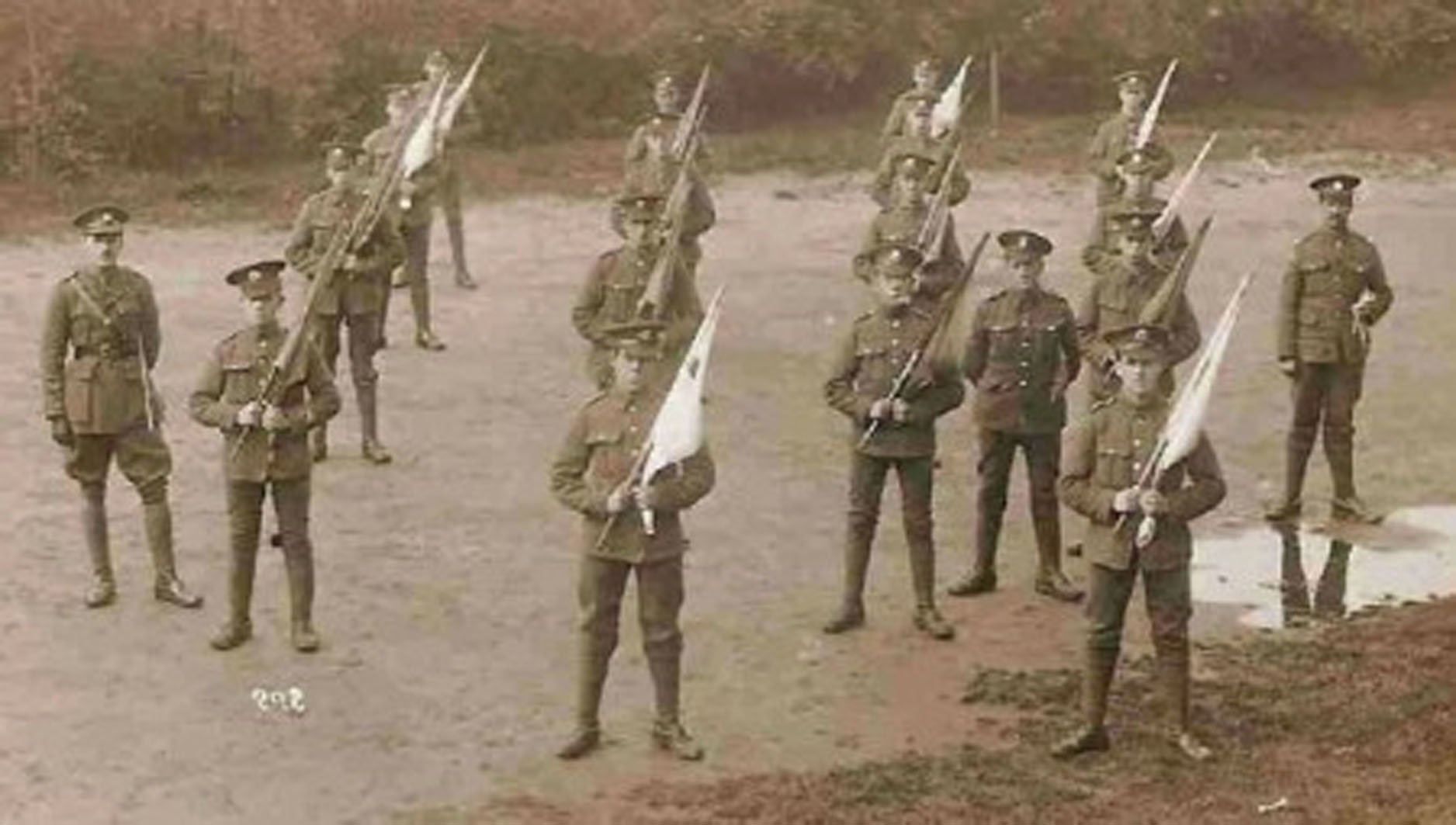 WW1 & WW2 communications Visual signalling using flags during WW1