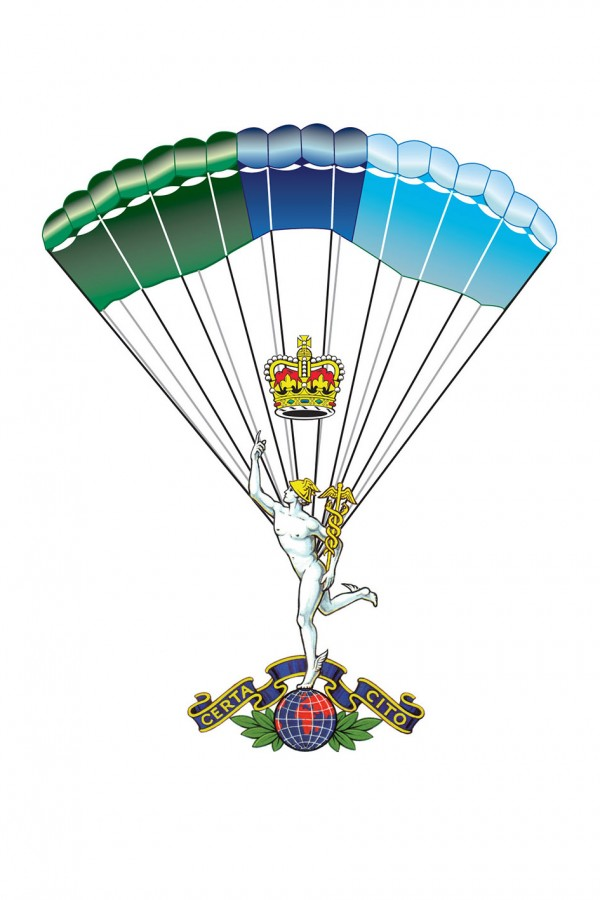 The Royal Signals Cap badge of the Corps Parachute Team