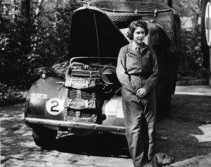 Princess Elizabeth during WW2