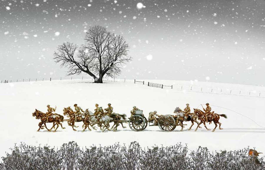 Cable Wagon Christmas card