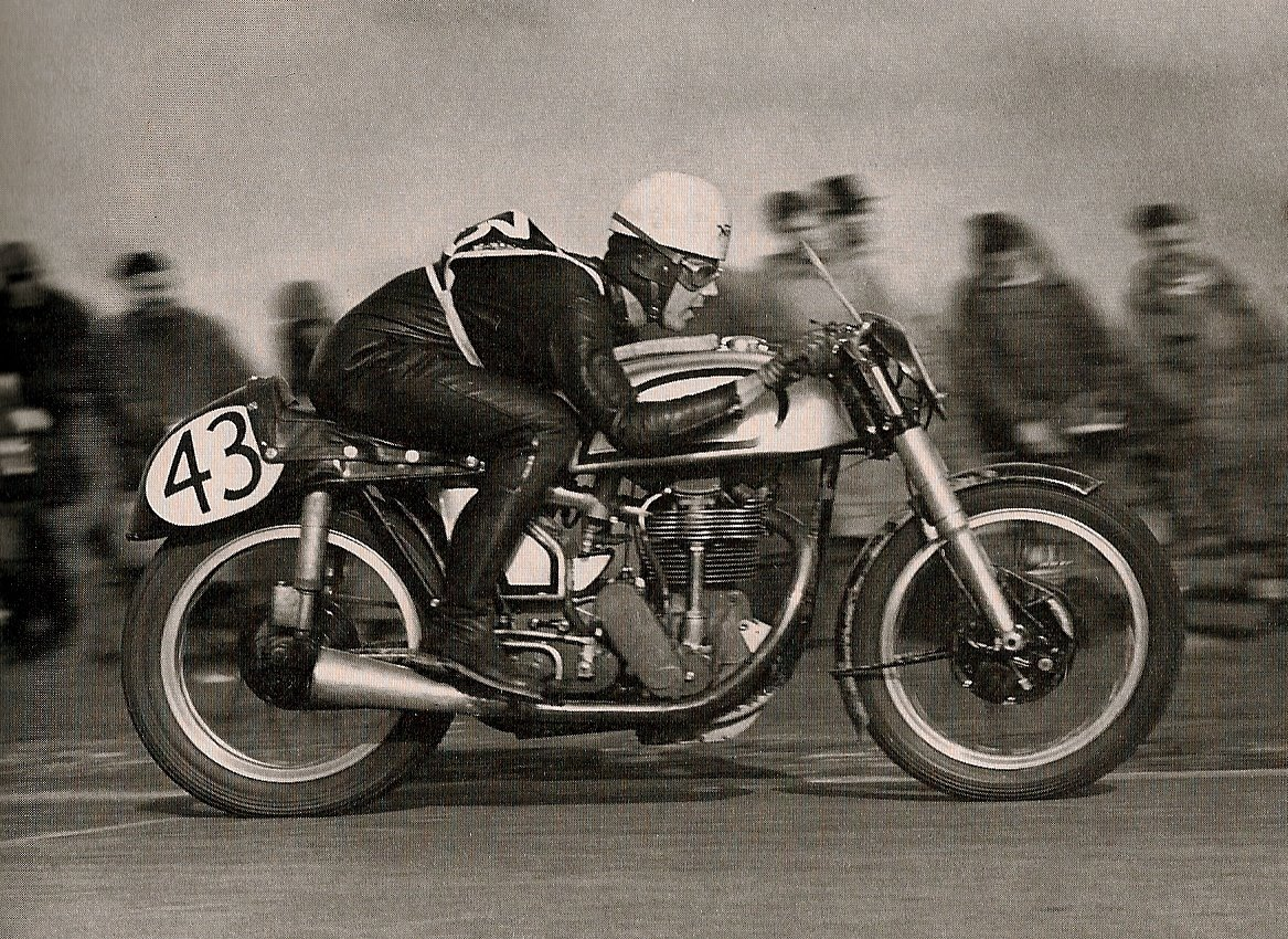 Duke on motorcycle Blandford