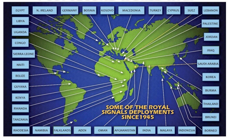 Corps history Royal Signals Post war map of operations