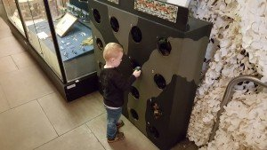 touchy feely game for young children at The Royal Signals Museum