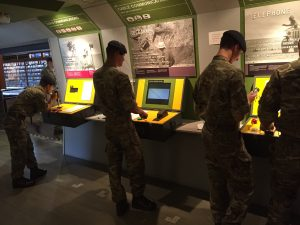 Soldiers enjoying a visit to The Royal Signals Musem
