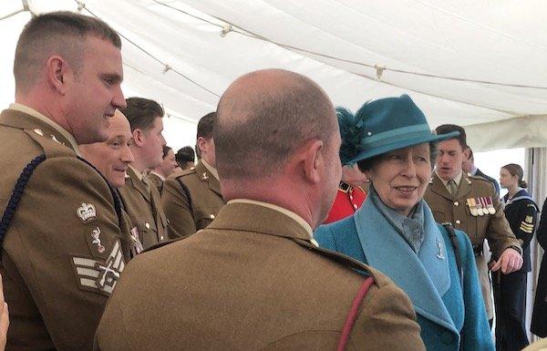 Princess Royal with Master of Signals