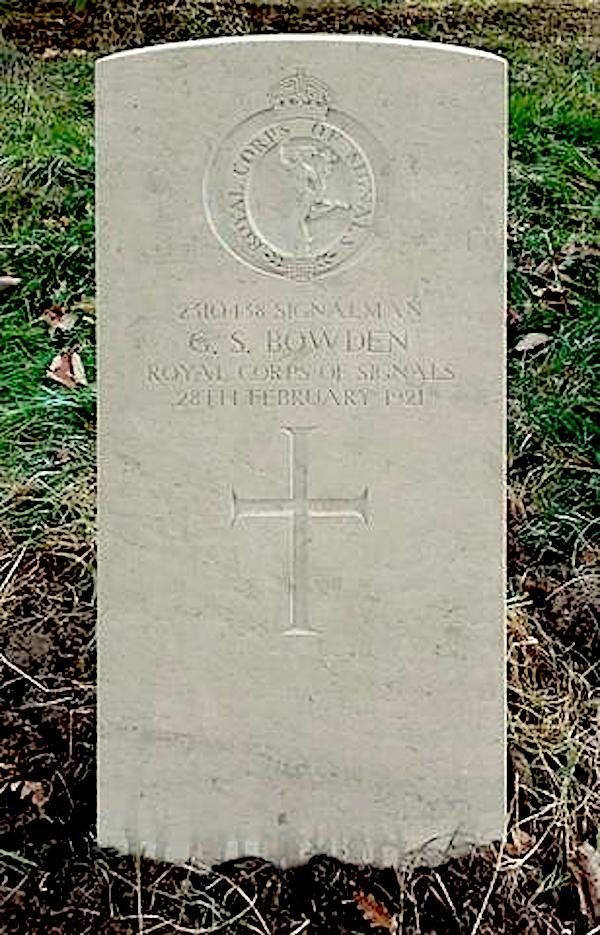 Bowden's gravestone