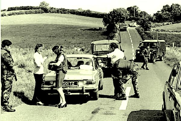 Northern Ireland Op Banner vehicle checkpoint