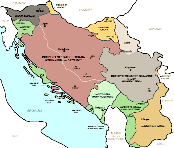 Occupation and partition of Yugoslavia 1941